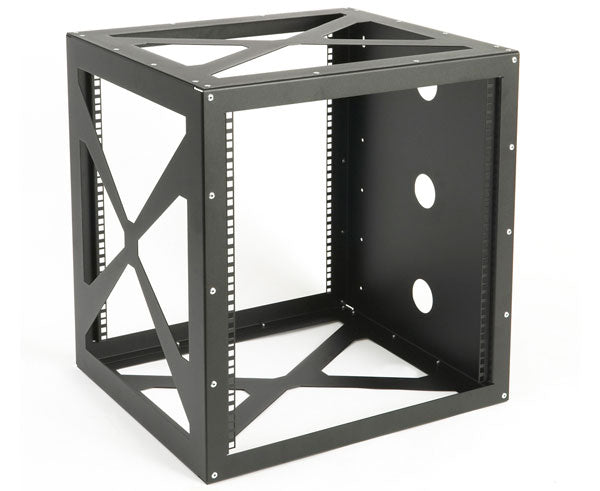 Network Rack, Open Frame Wall Mount, Side-Loading, 12U