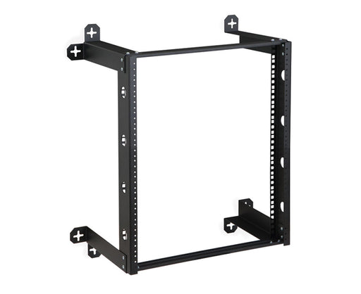 "V-Line 12"" Deep Open Frame Wall Mount Network Rack"