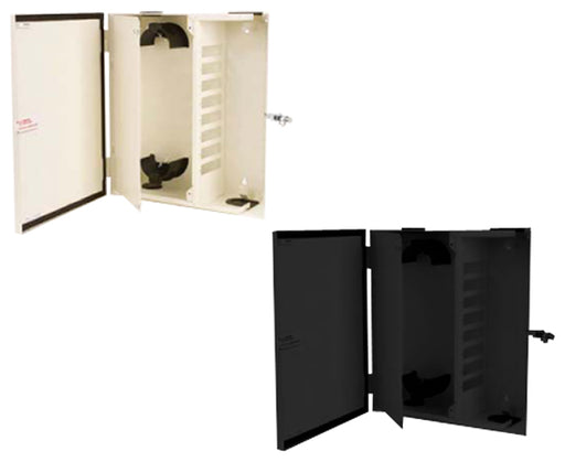 Fiber Wall Mount Enclosure, NEMA 12 Rated, 8 Panel & 48 Splice Capacity