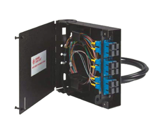 Fiber Wall Mount Enclosure, Single Door, 1 Panel Capacity