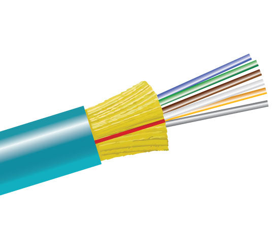 Fiber Optic Cable, 6 Strand, Multimode, 50/125 10 Gig OM4, Indoor Distribution, Plenum