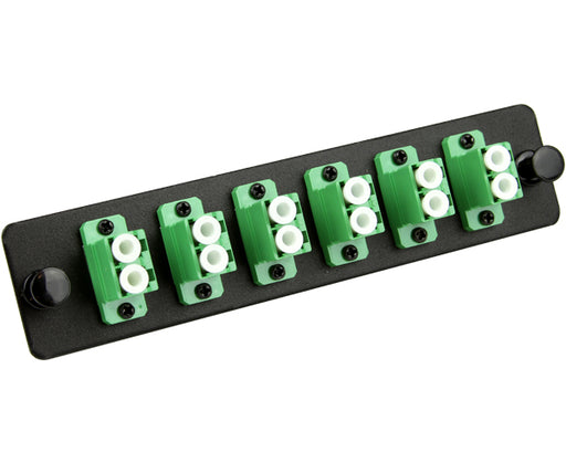 Fiber Adapter Panel, Single Mode, 12 Port LC/APC, Duplex