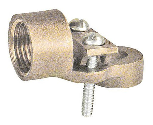Threaded Conduit Grounding Hub - Bronze