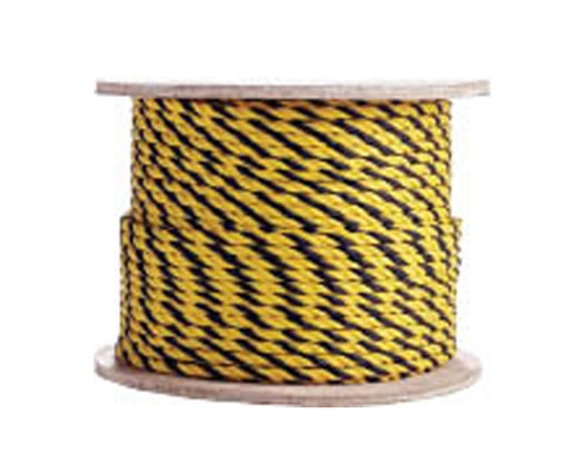 3 Strand Yellow/Yellow/Black Polypropylene Barrier Rope