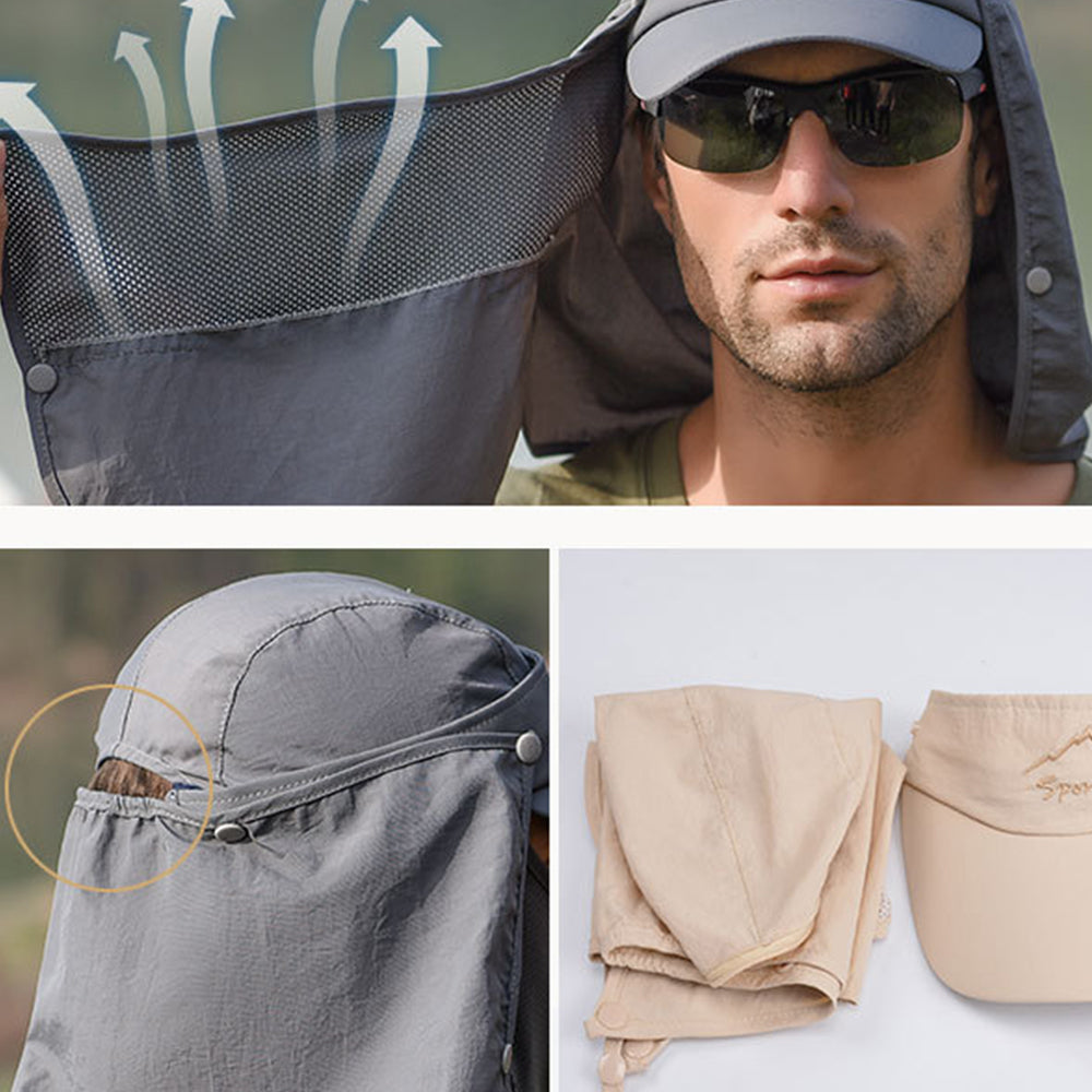 UV Protection Outdoor Fishing Cap Men's Sun Hat Quick-drying Cap Baseball cap