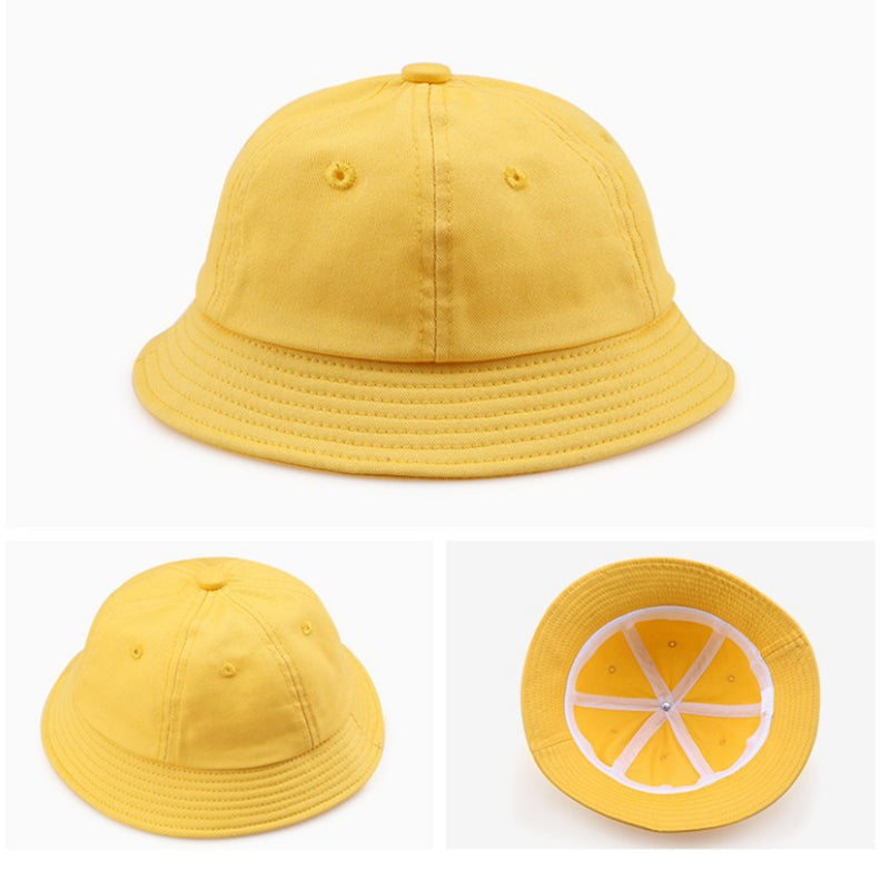 Children's Anti-fog Hat Dustproof Bucket Hat Yellow for Boys and Girls Anti-Dust