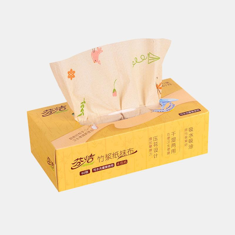 1 BOX Graphic Printing Washable Kitchen Paper Removable Box
