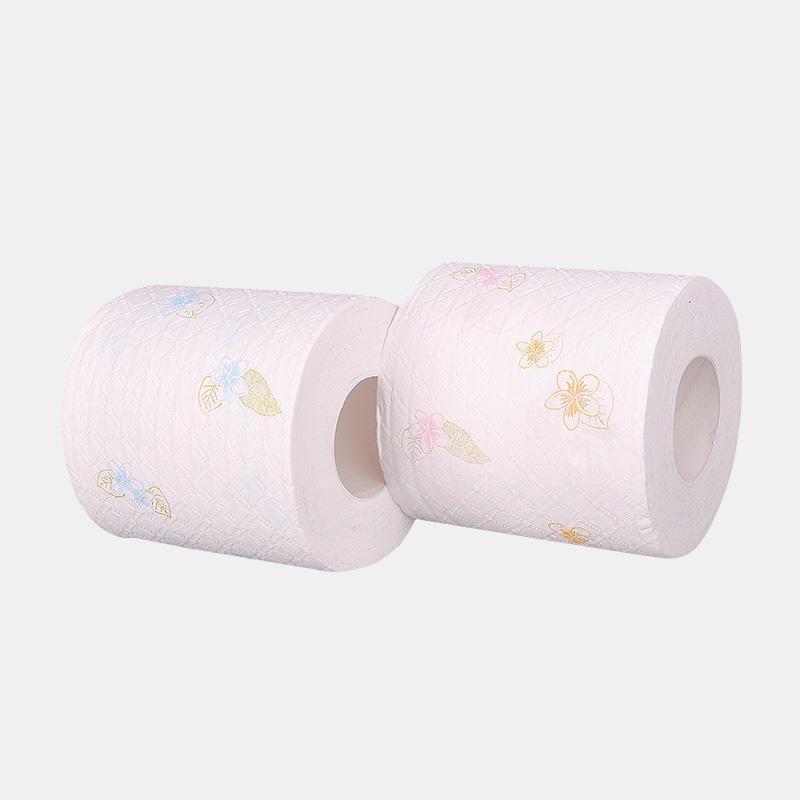 6 Rolls Printing 7-second Instant Roll Paper Toilet Paper Hotel Soft Hydrated Wood Pulp Toilet Pape