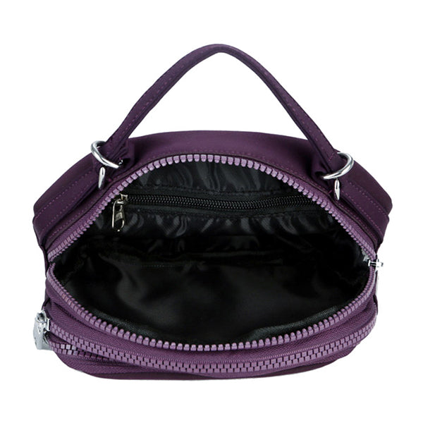 Women Waterproof Multi-layer Embroidery Bag Casual Crossbody Bag