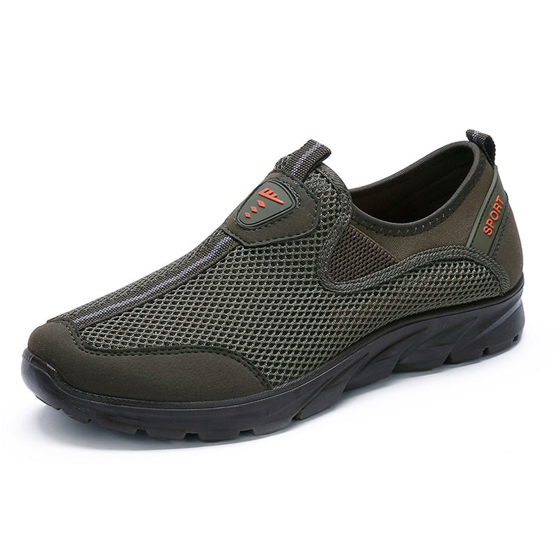 Large Size Men Mesh Breathable Soft Slip On Running Walking Sneakers