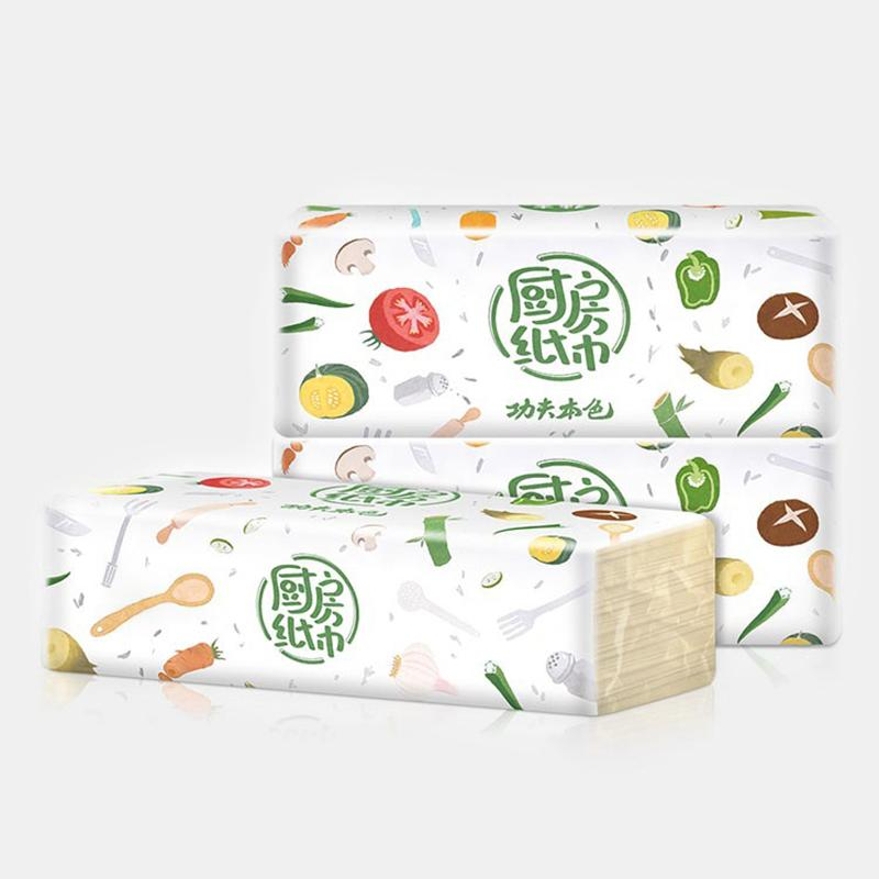 Multifunctional Kitchen Paper Absorbent Oil-absorbent Paper Towel Bamboo Pulp Pumping-out Paper