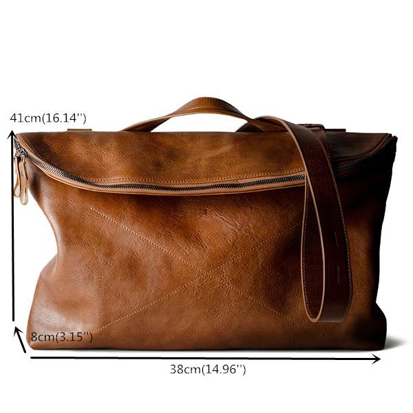 Men Handbag Casual Multifunction Foldable Solid Crossbody Bag