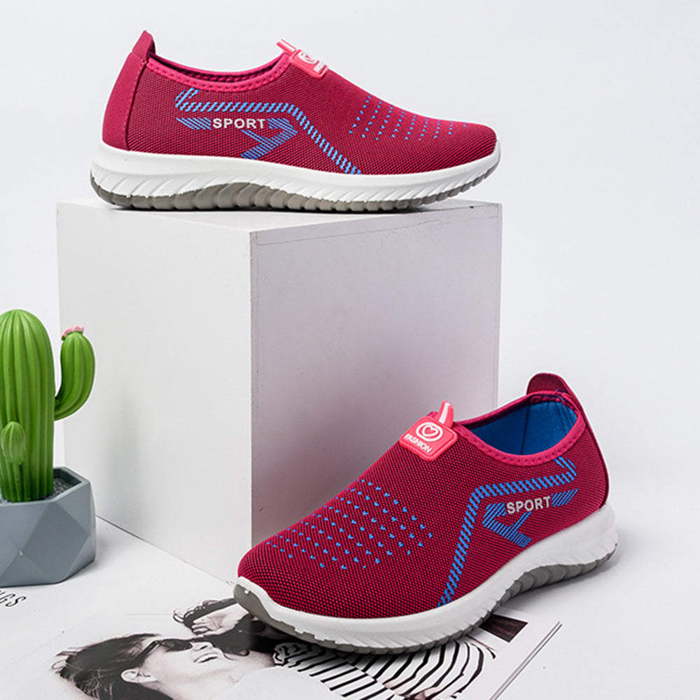 Women Sports Soft Light Breathable Mesh Non Slip Casual Shoes