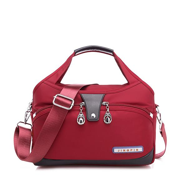 Women Casual Solid Color Shoulder Bag Large Capacity Ofxord Messenger Bag