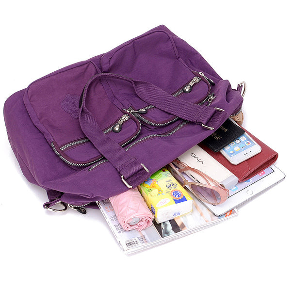 Nylon Large Capacity Lightweight Multi-pocket Crossbody Bag Handbag For Women