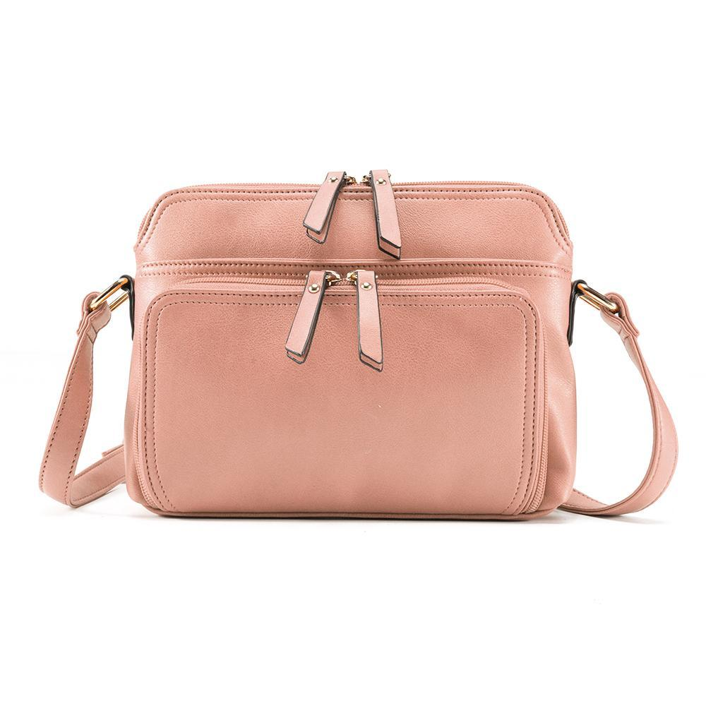 MANDY Women Solid Multi-pockets Casual PU Leather Crossbody Bag(Get 10% OFF ,Code:EL10)