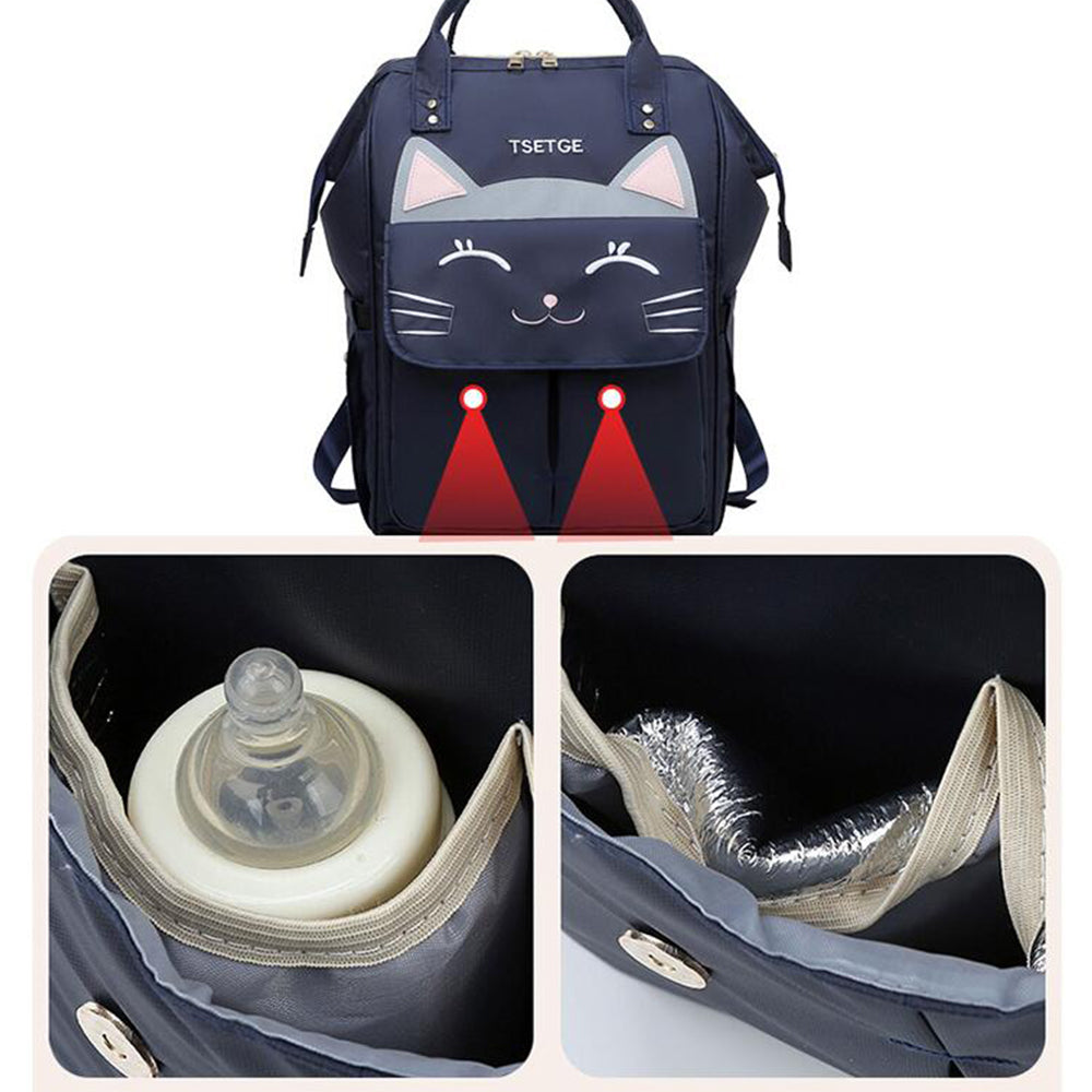 Oxford Leisure Backpack Cartoon Multi-functional Oxford Casual Shoulder Bag