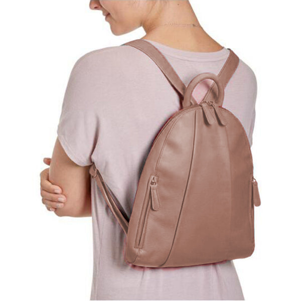 Women Casual PU Faux Leather Zipper Multi-carry Backpack