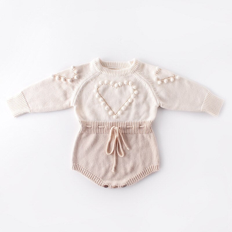 HITOMAGIC Newborn Baby Girl Clothes Kids Bodysuit Girls Clothing Knitting Romper Jumpsuit Warm For Winter Outfits Children