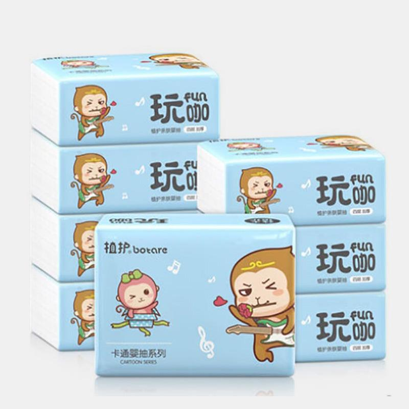 4 Layers Household Napkin Paper 2240 Sheets / 8 Pack Tissue Paper Native Bamboo Pulp Napkin Paper
