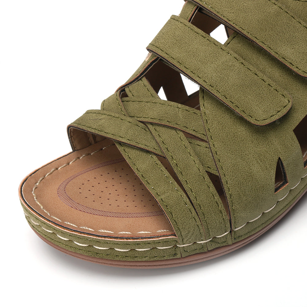 Peep Toe Hollow Out Breathable Casual Wedges Sandals