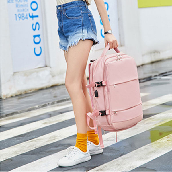 Women Canvas Multifunction Waterproof Travel Backpack