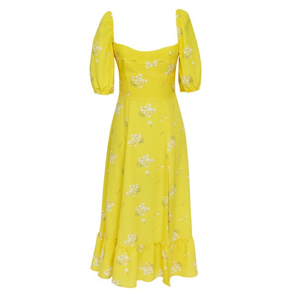 Lore Dress in Ramo yellow print