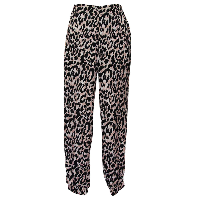 Allegra Pants in Leo beige print