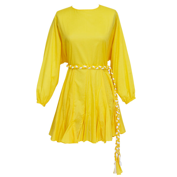 Jennifer Dress in Solid Yellow