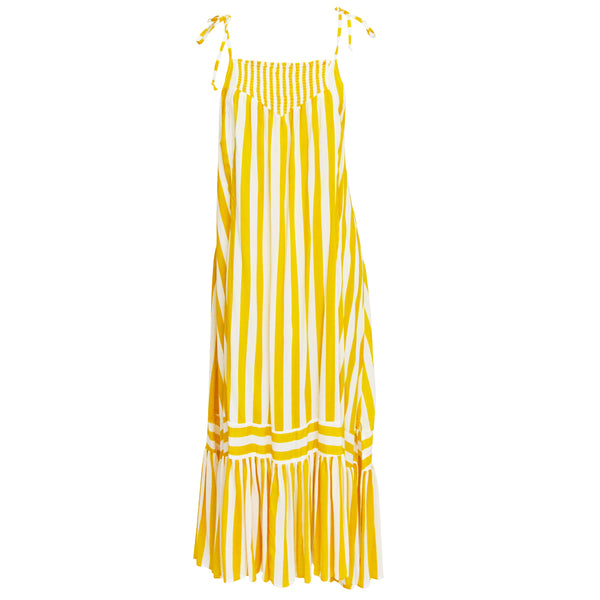 Mia Dress in Yellow Stripe