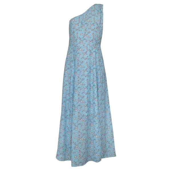 Julliette Dress in Sakura light blue print