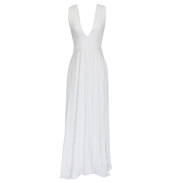 Nina Dress in Solid white