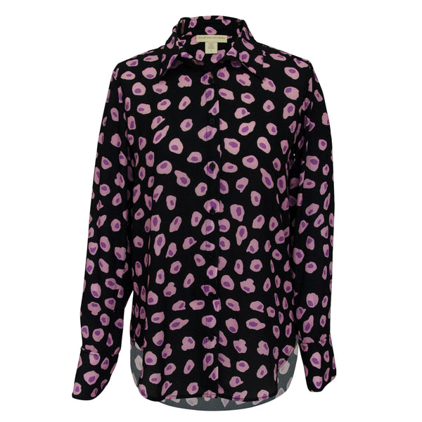 Classic Blouse in Celulas black print