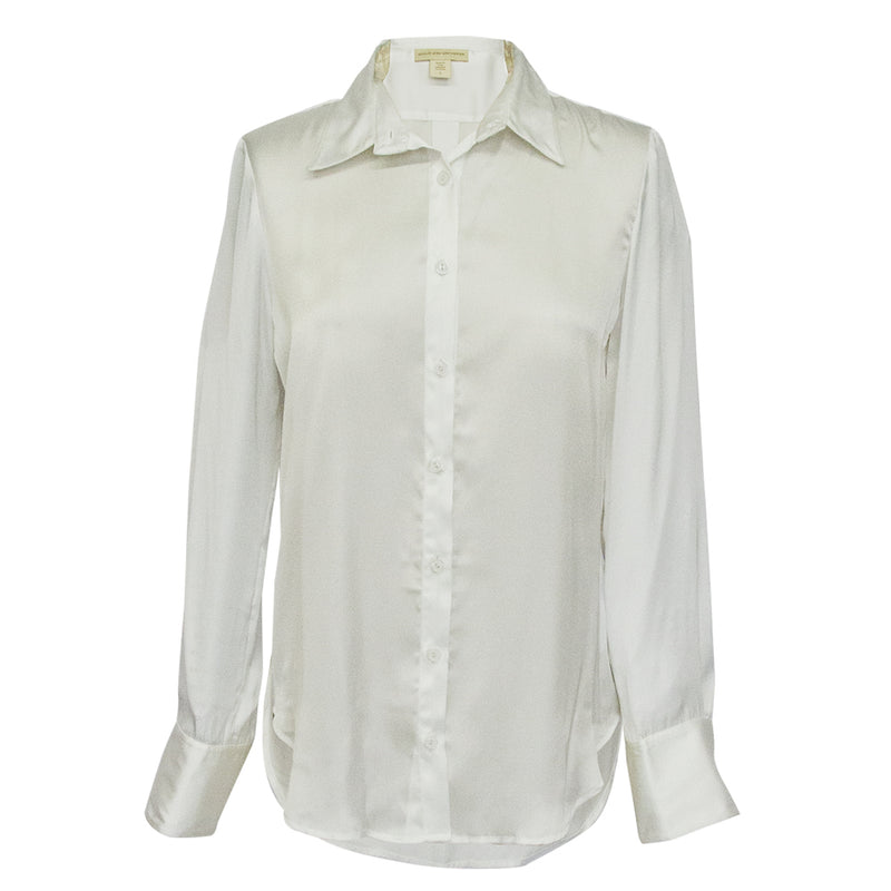 Classic Blouse in Solid white