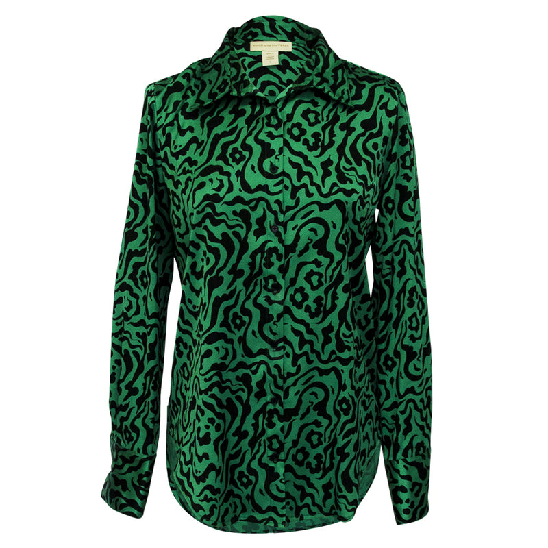 Classic Blouse in Tiger green print