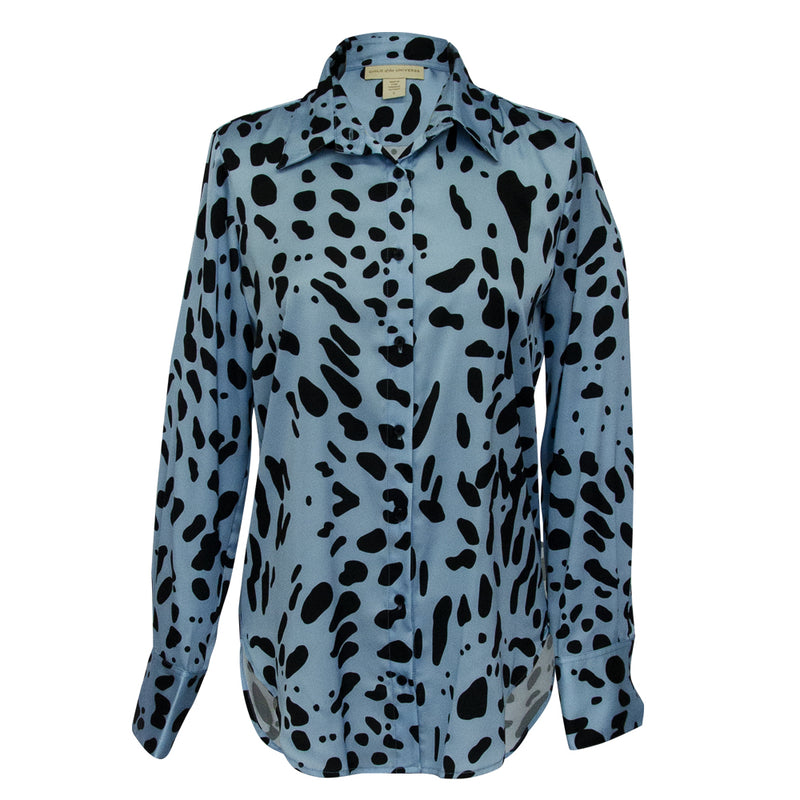 Classic Blouse in Leopard light blue print