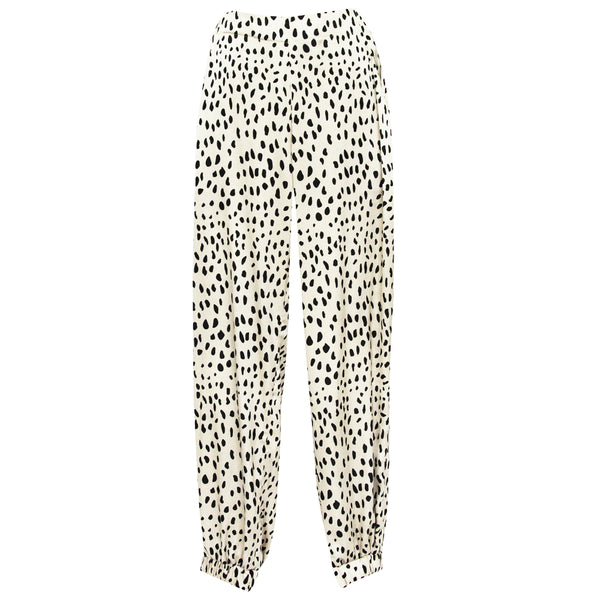 Allegra Pants in Spots beige print