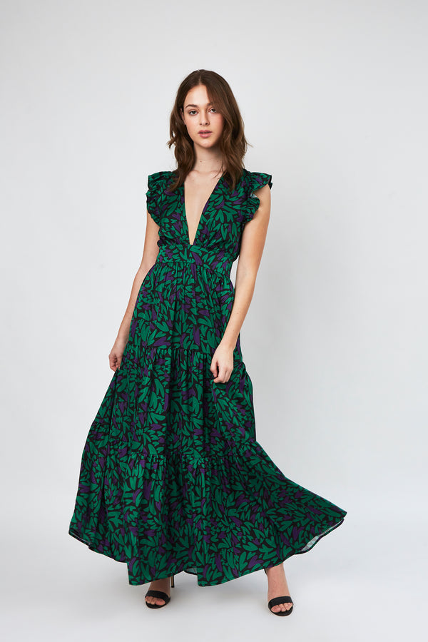 Coralina Dress in Love green print