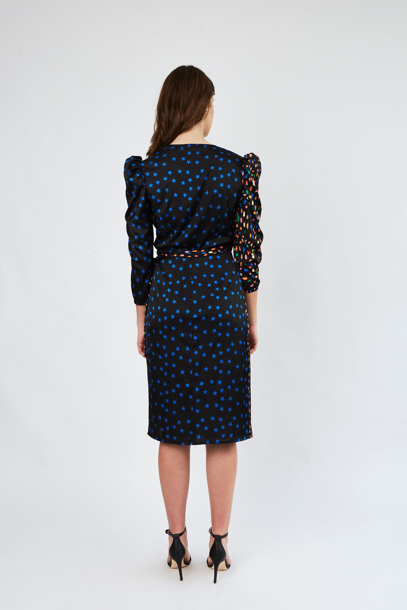 Emma Dress in Party mix print