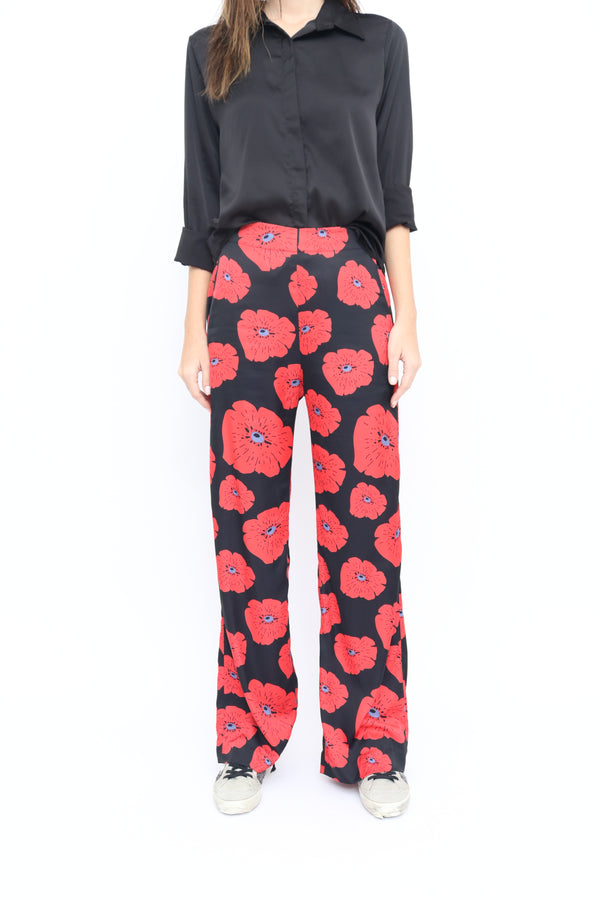Cloe Pants in Poppy red print