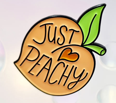 """Just Peachy"" Cast Die Enamel Pin"