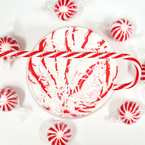 (REDUCED TO CLEAR!) Peppermint Twist (Custard Butter Ripple Slime)