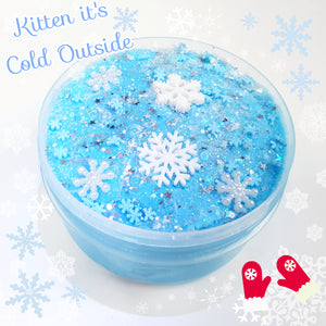 Kitten, It's Cold Outside (9oz Cloud Slime)
