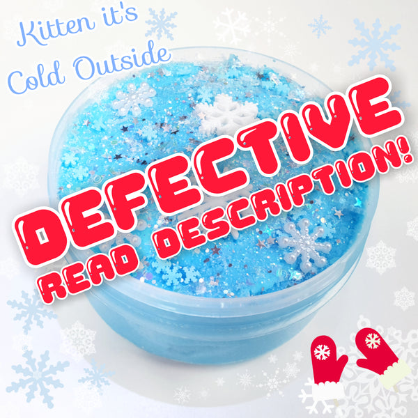 (DISCOUNTED!) Kitten, It's Cold Outside (9oz Cloud Slime)
