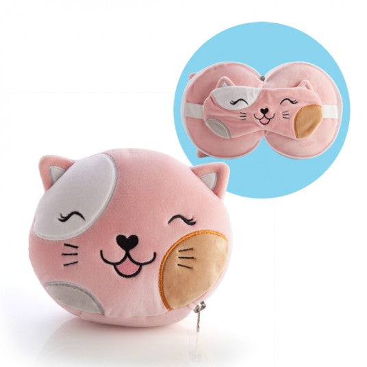 Smoosho's Pal Travel Cat Mask And Pillow