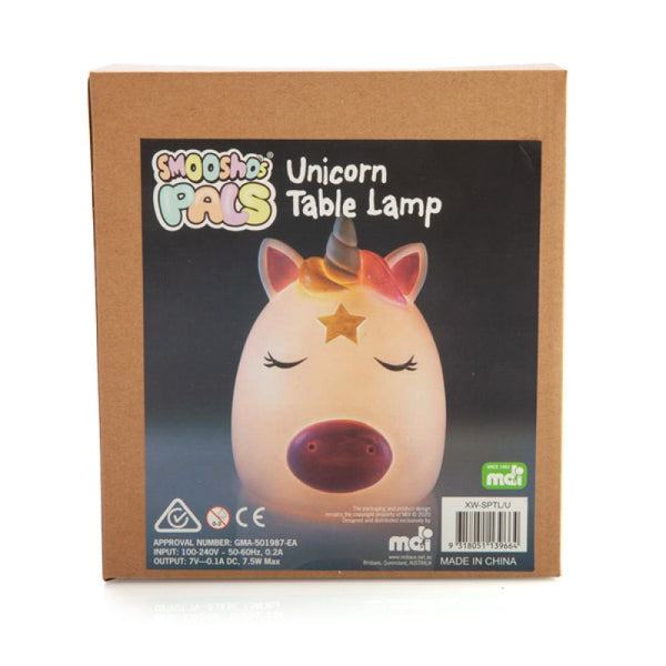 Shmoosho's Pal Unicorn Table Lamp (AUS outlet plug)