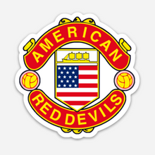 Load image into Gallery viewer, American Red Devils Badge Die Cut Logo Sticker