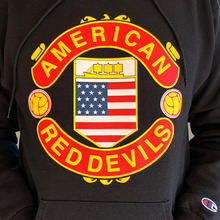 Load image into Gallery viewer, American Red Devils Badge Hoodie