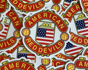 American Red Devils Badge Die Cut Logo Sticker