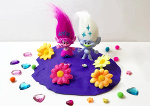 Mini Trolls Sensory Bin (Play Dough Base)